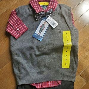 Four-piece sweather vest set